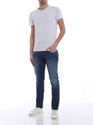 Jacob Cohen: straight leg jeans online - N.3 wash denim five pocket jeans