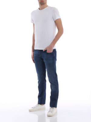 Jacob Cohen: straight leg jeans online - Natural indigo garment dyed jeans