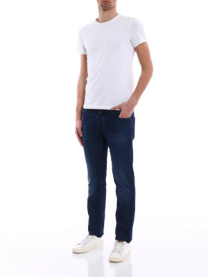 Jacob Cohen: straight leg jeans online - Patterned lining tailored jeans
