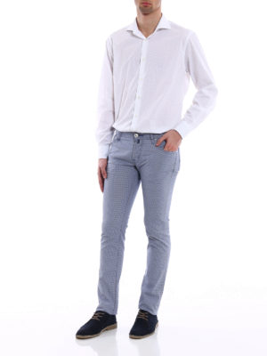 Jacob Cohen: straight leg jeans online - Patterned tailored jeans