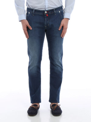 Jacob Cohen: straight leg jeans online - PW613 comfortable faded jeans