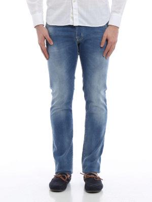 Jacob Cohen: straight leg jeans online - PW622 light blue stitches jeans
