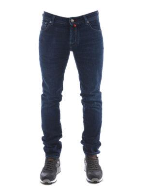 Jacob Cohen: straight leg jeans online - Red label faded denim jeans