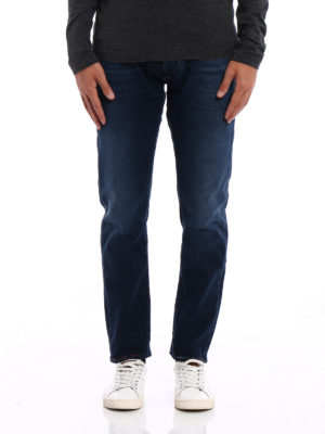 Jacob Cohen: straight leg jeans online - Red white blue stitchings jeans