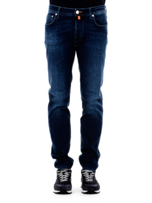 Jacob Cohen: straight leg jeans online - Scented handkerchief classic jeans