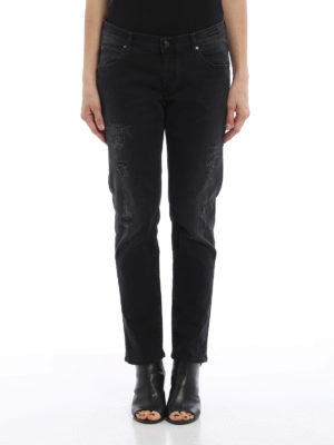 Jacob Cohen: straight leg jeans online - Scraped jeans