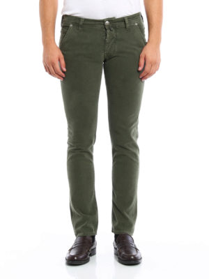 Jacob Cohen: straight leg jeans online - Slanting pockets detailed jeans
