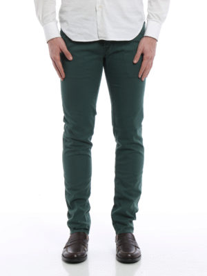 Jacob Cohen: straight leg jeans online - Slanting pockets detailed jeans