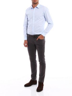 Jacob Cohen: straight leg jeans online - Smooth cotton velvet jeans