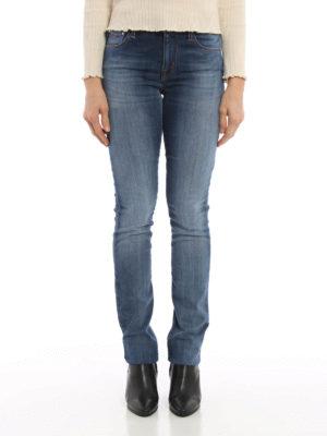 Jacob Cohen: straight leg jeans online - Stone wash denim jeans