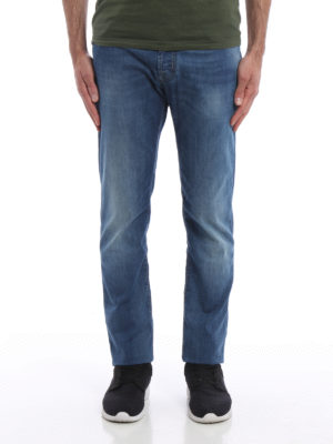 Jacob Cohen: straight leg jeans online - Stone washed jeans