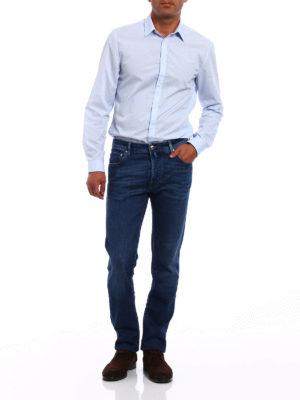 Jacob Cohen: straight leg jeans online - Stonewashed stretch denim jeans