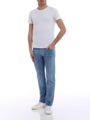 Jacob Cohen: straight leg jeans online - Style 622 comfort light wash jeans