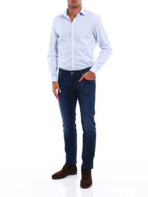 Jacob Cohen: straight leg jeans online - Style 622 five pocket stretch jeans
