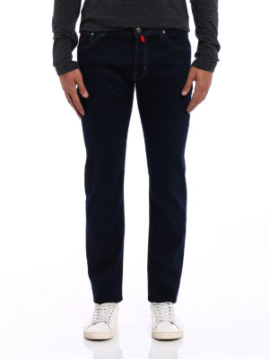 Jacob Cohen: straight leg jeans online - Style 622 red patch jeans