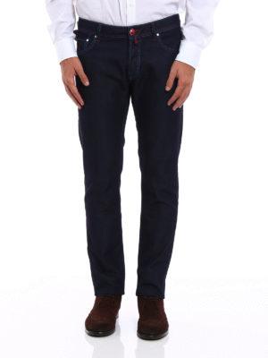 Jacob Cohen: straight leg jeans online - Style 622 tartan detailed jeans