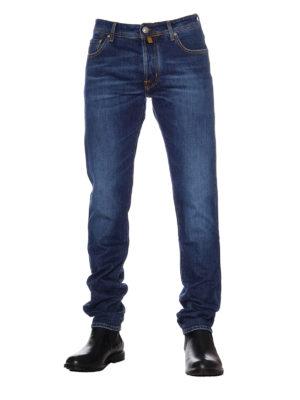 Jacob Cohen: straight leg jeans online - Style 688 Comf blue cotton jeans