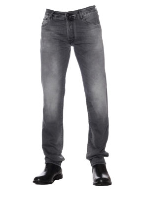 Jacob Cohen: straight leg jeans online - Style 688 Comf grey cotton jeans