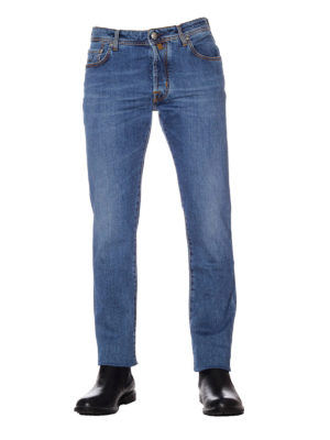 Jacob Cohen: straight leg jeans online - Style 688 Comf light wash jeans