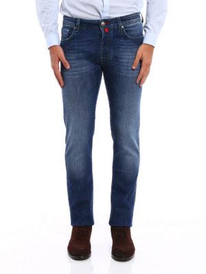 Jacob Cohen: straight leg jeans online - Style 688 comf stretch cotton jeans