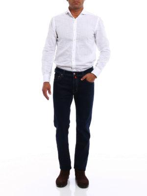Jacob Cohen: straight leg jeans online - Style 688 dark wash denim jeans