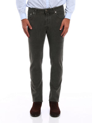 Jacob Cohen: straight leg jeans online - Style 688 micro patterned jeans