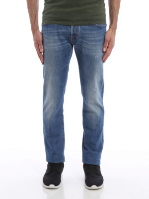 Jacob Cohen: straight leg jeans online - Used effect jeans
