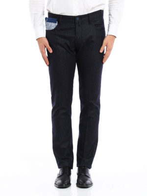 Jacob Cohen: straight leg jeans online - Wool blend tailored jeans