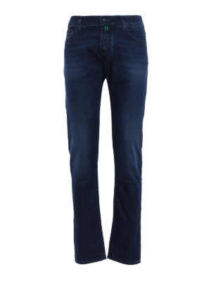 Jacob Cohen: straight leg jeans - Patterned lining tailored jeans