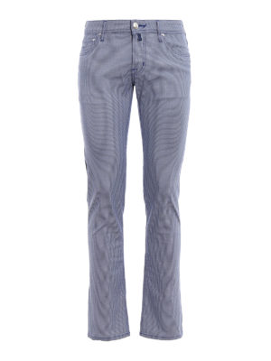 Jacob Cohen: straight leg jeans - Patterned tailored jeans