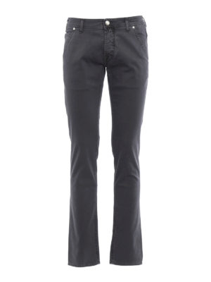 Jacob Cohen: straight leg jeans - Plain colour jeans