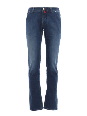Jacob Cohen: straight leg jeans - PW613 comfortable faded jeans