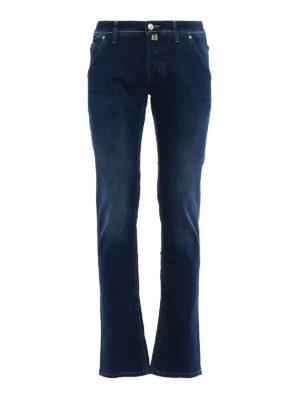 Jacob Cohen: straight leg jeans - Rainbow handkerchief detailed jeans