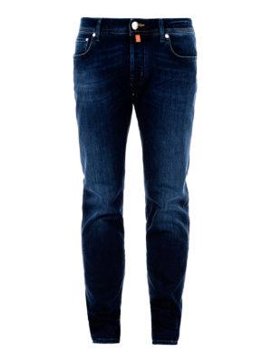 Jacob Cohen: straight leg jeans - Scented handkerchief classic jeans