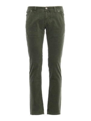Jacob Cohen: straight leg jeans - Slanting pockets detailed jeans