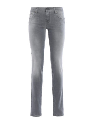Jacob Cohen: straight leg jeans - Stone wash denim jeans
