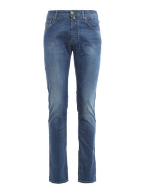 Jacob Cohen: straight leg jeans - Stone washed jeans