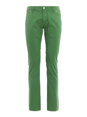 Jacob Cohen: straight leg jeans - Stretch cotton jeans