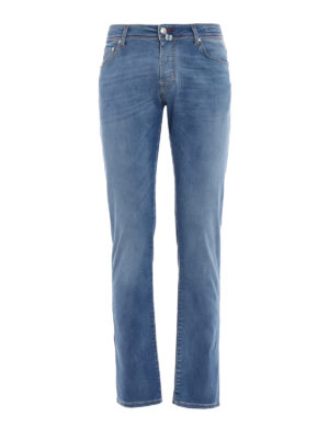 Jacob Cohen: straight leg jeans - Style 622 comfort light wash jeans