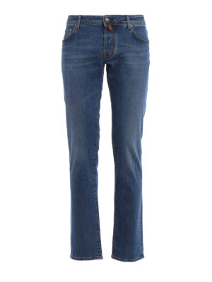 Jacob Cohen: straight leg jeans - Style 622 comfort medium wash jeans