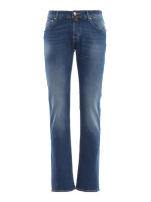 JACOB COHEN: straight leg jeans - Style 622 cotton blend denim jeans