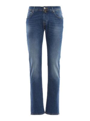 JACOB COHEN: Straight Leg Jeans - Straight Leg Jeans - Jeansblau