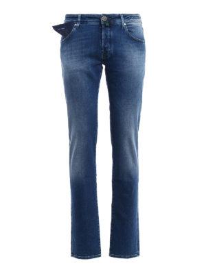 Jacob Cohen: straight leg jeans - Style 622 five pocket stretch jeans