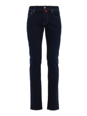 Jacob Cohen: straight leg jeans - Style 622 red patch jeans
