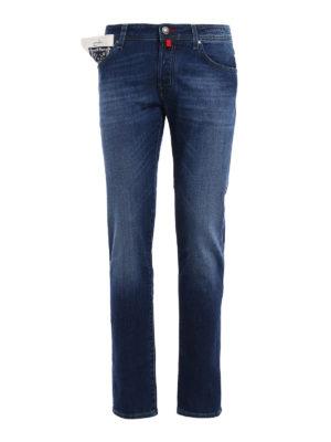 Jacob Cohen: straight leg jeans - Style 622 rigid denim jeans