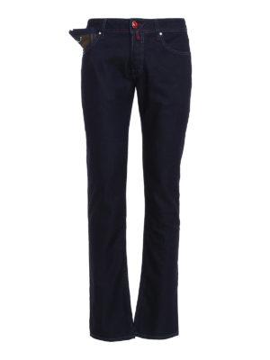 Jacob Cohen: straight leg jeans - Style 622 tartan detailed jeans