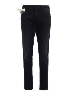Jacob Cohen: straight leg jeans - Style 656 dyed denim jeans