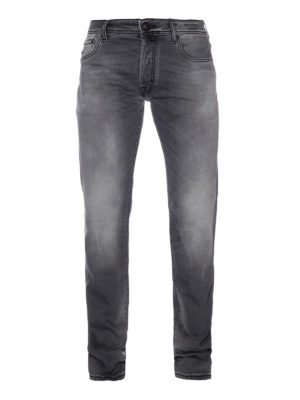 Jacob Cohen: straight leg jeans - Style 688 Comf grey cotton jeans