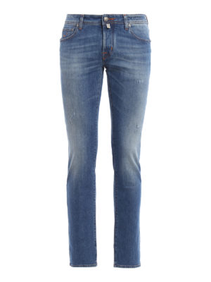 Jacob Cohen: straight leg jeans - Used effect jeans