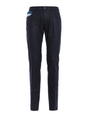 Jacob Cohen: straight leg jeans - Wool blend tailored jeans